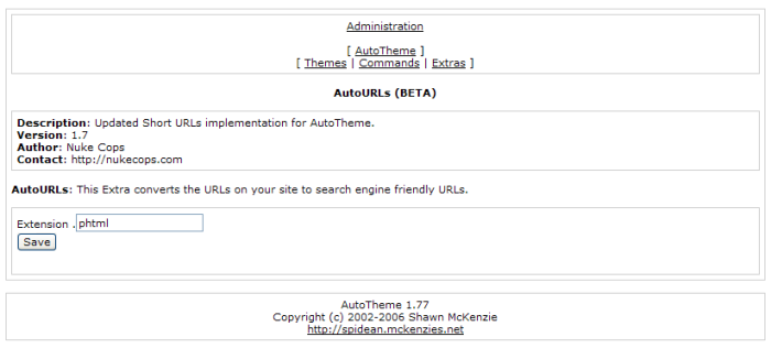 On most platforms there is a global Extra for short, friendly or search engine optimized URLs.  Requires mod_rewrite.